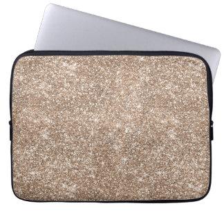 Faux Gold Foil Glitter Background Sparkle Template Laptop Sleeve