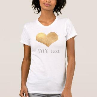 Faux Gold Foil, Heart T-shirts