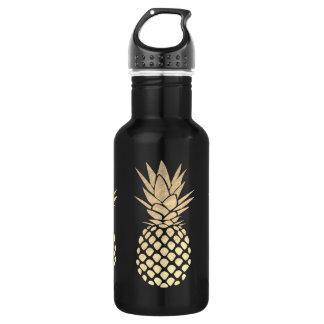 faux gold foil pineapples 532 ml water bottle