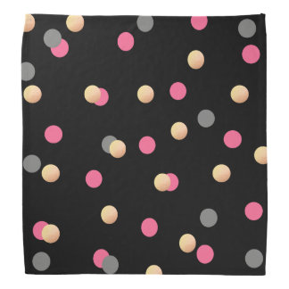faux gold foil pink grey confetti dots pattern do-rags