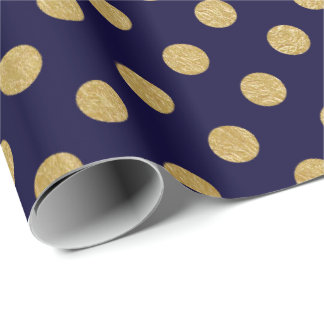 Faux Gold Foil Polka Dot Pattern