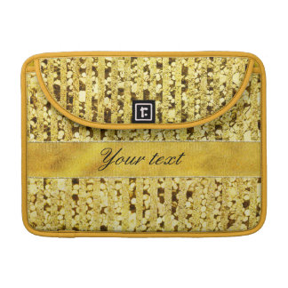 Faux Gold Foil Stripes and Confetti MacBook Pro Sleeves