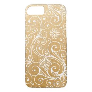 Faux Gold Foil Swirl pattern iPhone 8/7 Case