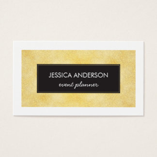 Faux Gold-Foil Texture Business Cards