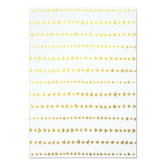 Faux Gold Foil White Arrows Pattern Card