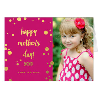 Faux Gold Foil XOXO | Mother's Day Greeting Card