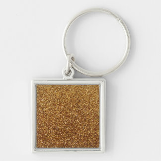 Faux Gold glitter graphic Keychains