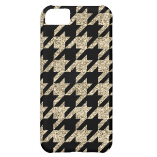 Faux Gold Glitter Houndstooth iPhone 5C Case