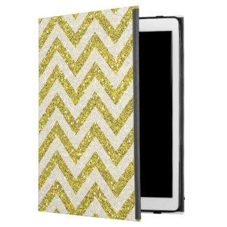 Faux gold glitter iPad Pro case