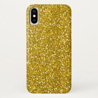 Faux Gold Glitter iPhone X Case