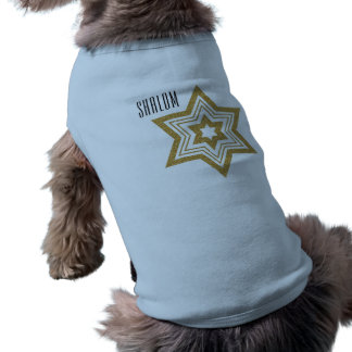 Faux Gold Glitter Star of David with Text Shirt