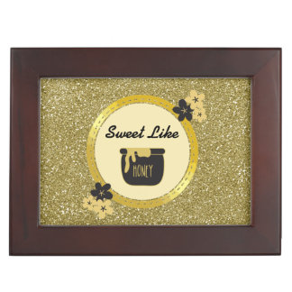 Faux Gold Glitter Sweet Like Honey Memory Boxes