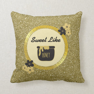 Honey Gold Throw Pillow : Honey Cushions - Honey Scatter Cushions Zazzle.com.au