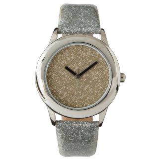 Faux Gold Glitter Watch