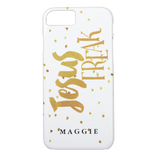 Faux Gold Jesus Freak Gold Confetti iPhone 8/7 Case