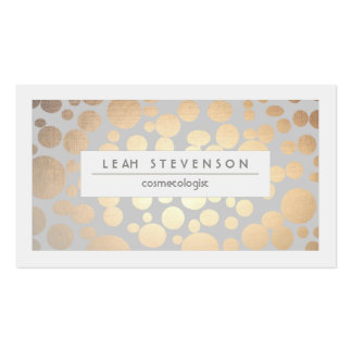 Faux Gold Leaf Cosmetologist Business Card