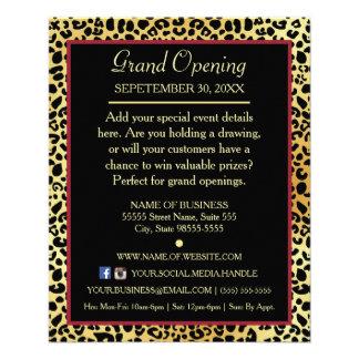 FAUX Gold Leopard Hair Boutique Special Event 11.5 Cm X 14 Cm Flyer