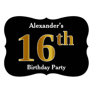 Faux Gold Look 16th Birthday Party + Custom Name Card