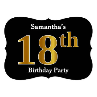 Faux Gold Look 18th Birthday Party + Custom Name Card