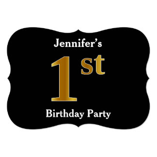 Faux Gold Look 1st Birthday Party + Custom Name Card