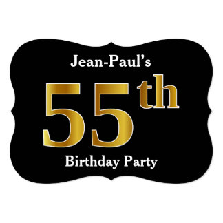 Faux Gold Look 55th Birthday Party + Custom Name Card