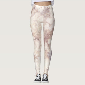 Faux Gold Marble Leggings