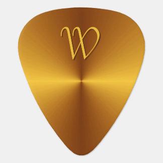 Faux Gold Metal Guitar Pick Personalized Monogram