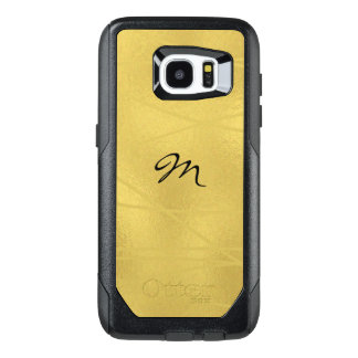 Faux Gold Monogram OtterBox Samsung Galaxy S7 Case
