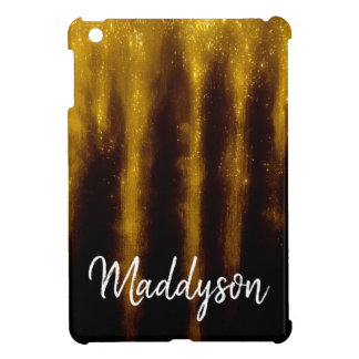 Faux Gold Paint And Glitter On Black Case For The iPad Mini