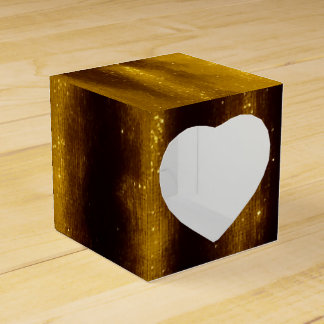 Faux Gold Paint And Glitter On Black Favour Box