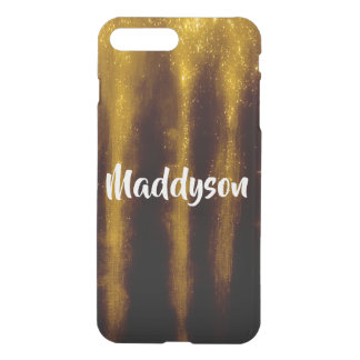 Faux Gold Paint And Glitter On Black iPhone 8 Plus/7 Plus Case