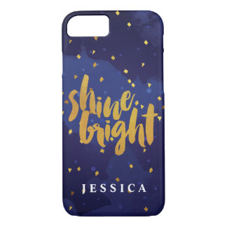 Faux Gold Shine Bright Watercolor iPhone 7 Case