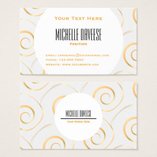Faux Gold Spiral Business Set | Business Card