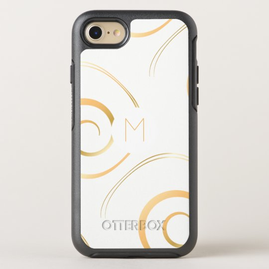 (Faux Gold) Spiral Monogram | OtterBox Symmetry iPhone 8/7 Case