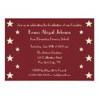 Faux Gold Stars School Graduation Party Invitation