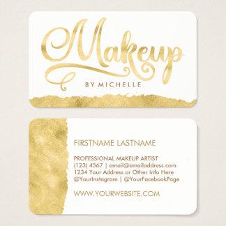Faux Gold Swash MAKEUP Artist Business Cards