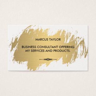 Faux Gold with Embellished Element Business Card
