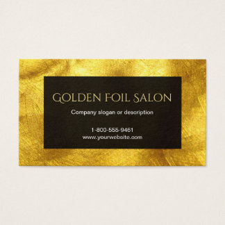 Faux Golden Foil Look with Black Business Card
