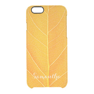 Faux Golden Leaf Clear iPhone 6/6S Case