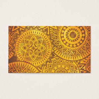 Faux Golden Suns pattern Business Card