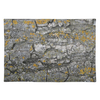 Faux Gray Grunge Wood Tree Bark Placemat