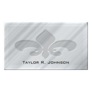 Faux Grey Marble Fleur de Lis Business Card Template