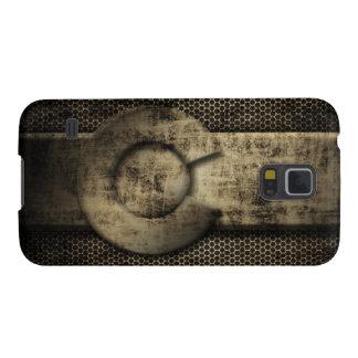 Faux Grunge Metal Colorado Flag Galaxy S5 Cases