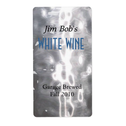 Faux Hammered Metal Home Made Wine Labels
