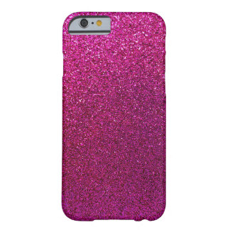 Faux Hot Pink Glitter Background Sparkle Barely There iPhone 6 Case