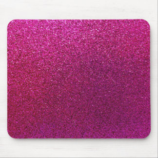 Faux Hot Pink Glitter Background Sparkle Mouse Pad