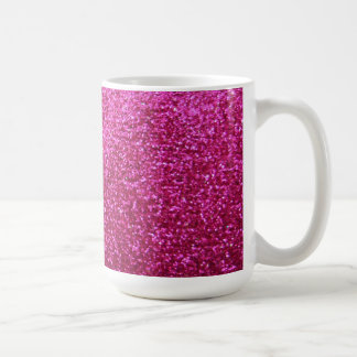 Faux Hot Pink Glitter Basic White Mug