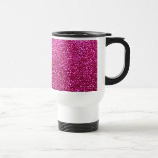 Faux Hot Pink Glitter Coffee Mug