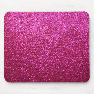 Faux Hot Pink Glitter Mouse Pad