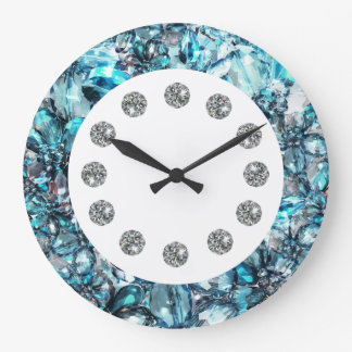 Faux Jewel Bling Wall Clock